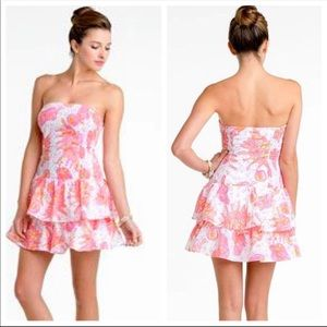 🌸 Lilly Pulitzer Conch Pink Print Elinor Dress S